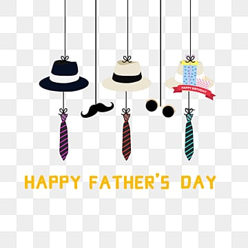 Fathers Day Hat Tie beard combination, Father, Fathers Day, Dad PNG and PSD