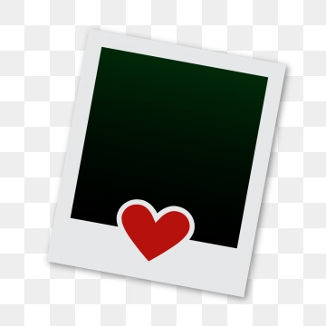 polaroid frame with love, Polaroid, Frame, Love Frame PNG and PSD