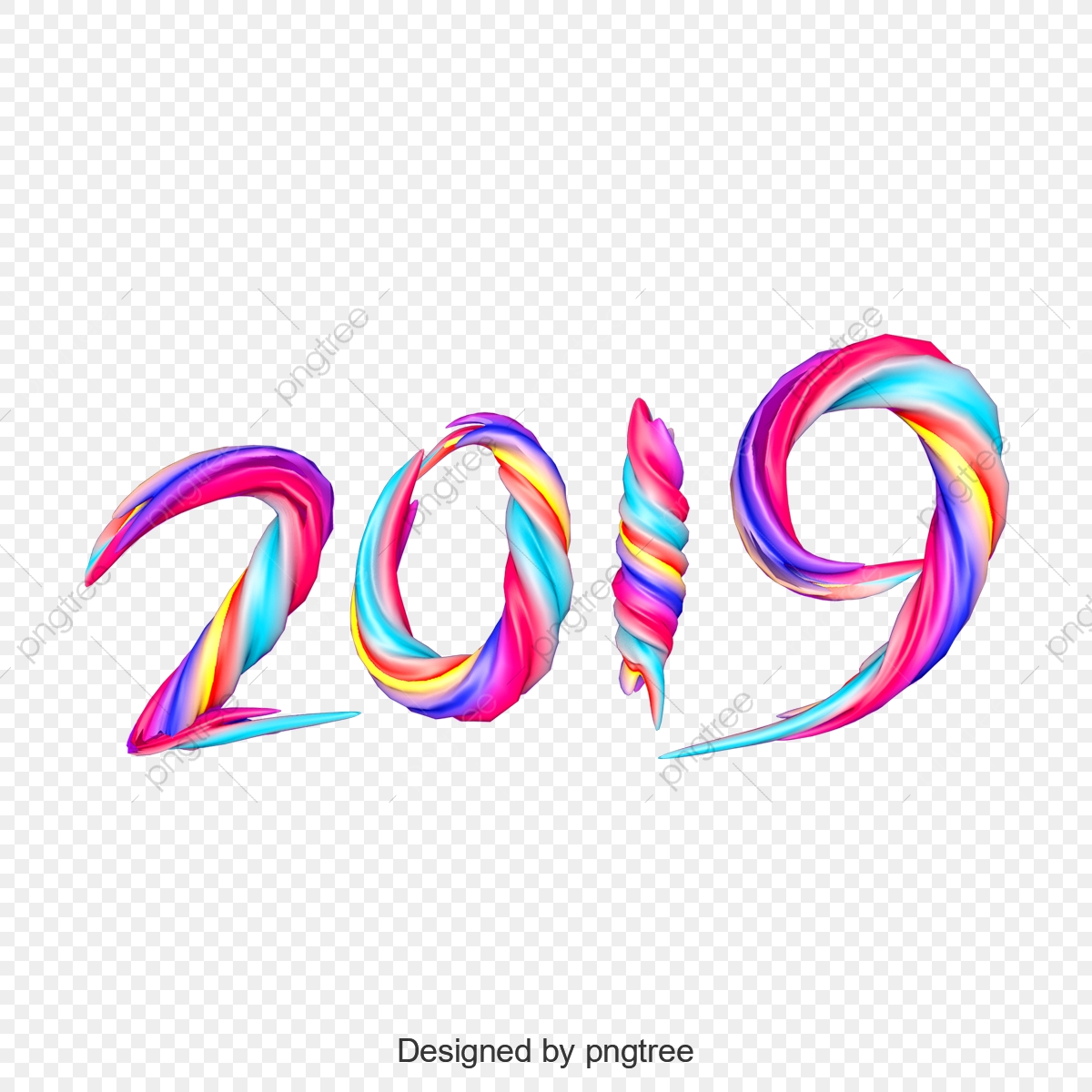 💋 2019 png background full hd download | Happy New Year 2019 PNG