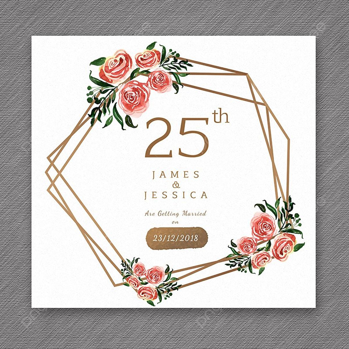 25 Watercolor Wedding Anniversary Floral Frame Designs