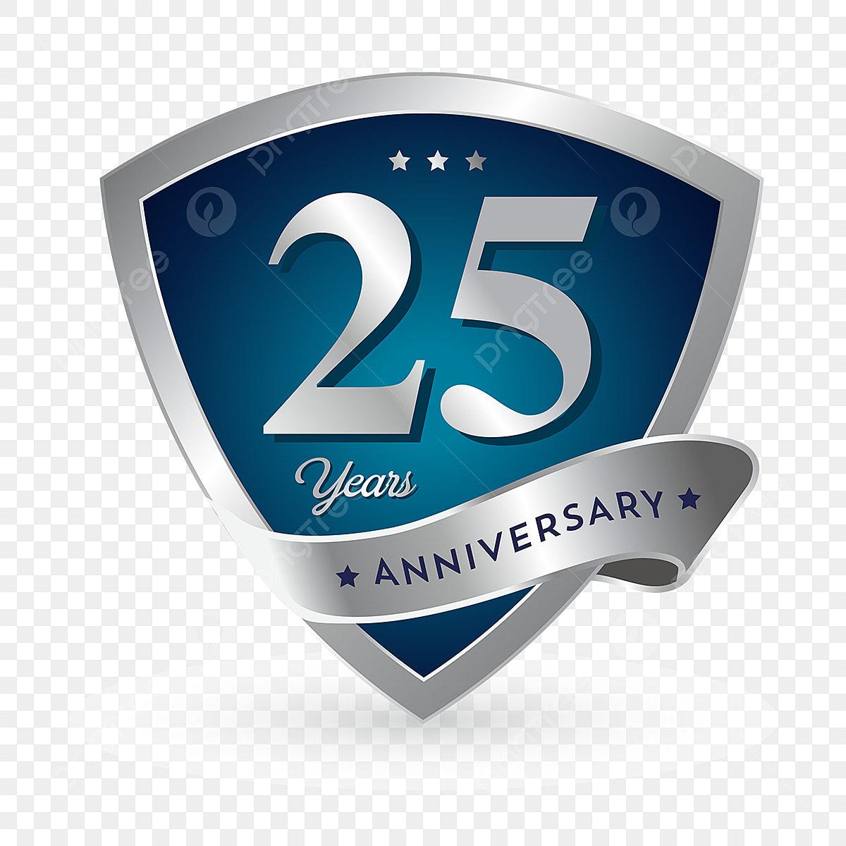 25th Anniversary Badge Logo Icon Anniversary 25 Anniversary