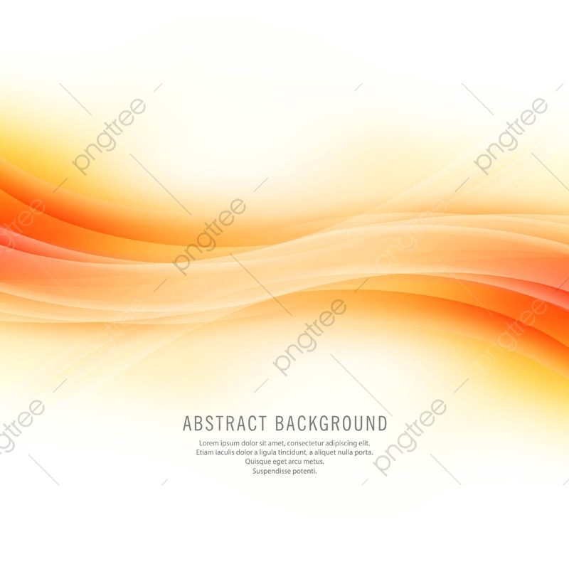 Abstract Beautiful Shiny Orange Wave Background Abstract