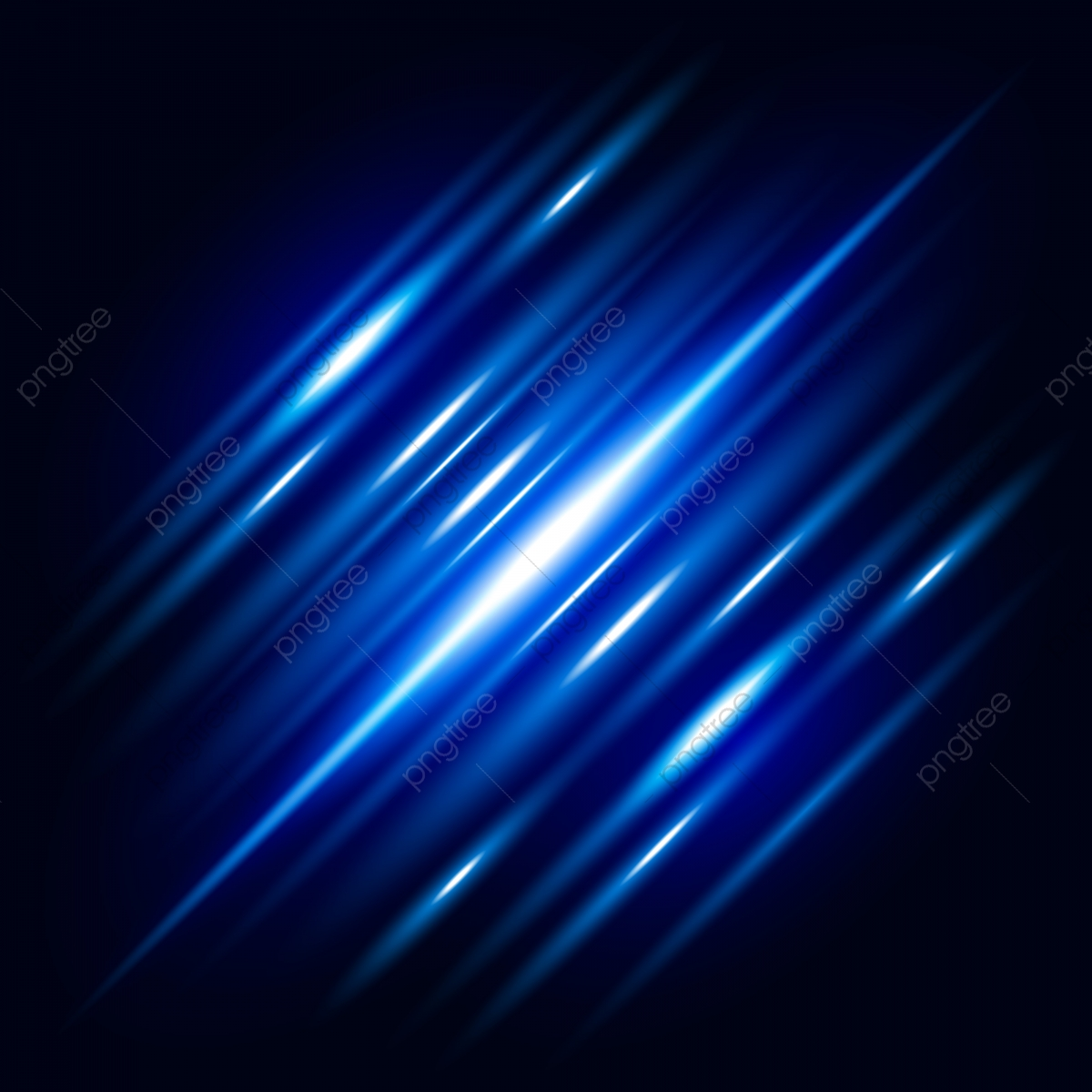 Abstract Blue Light Effect With Shine Bright Vector