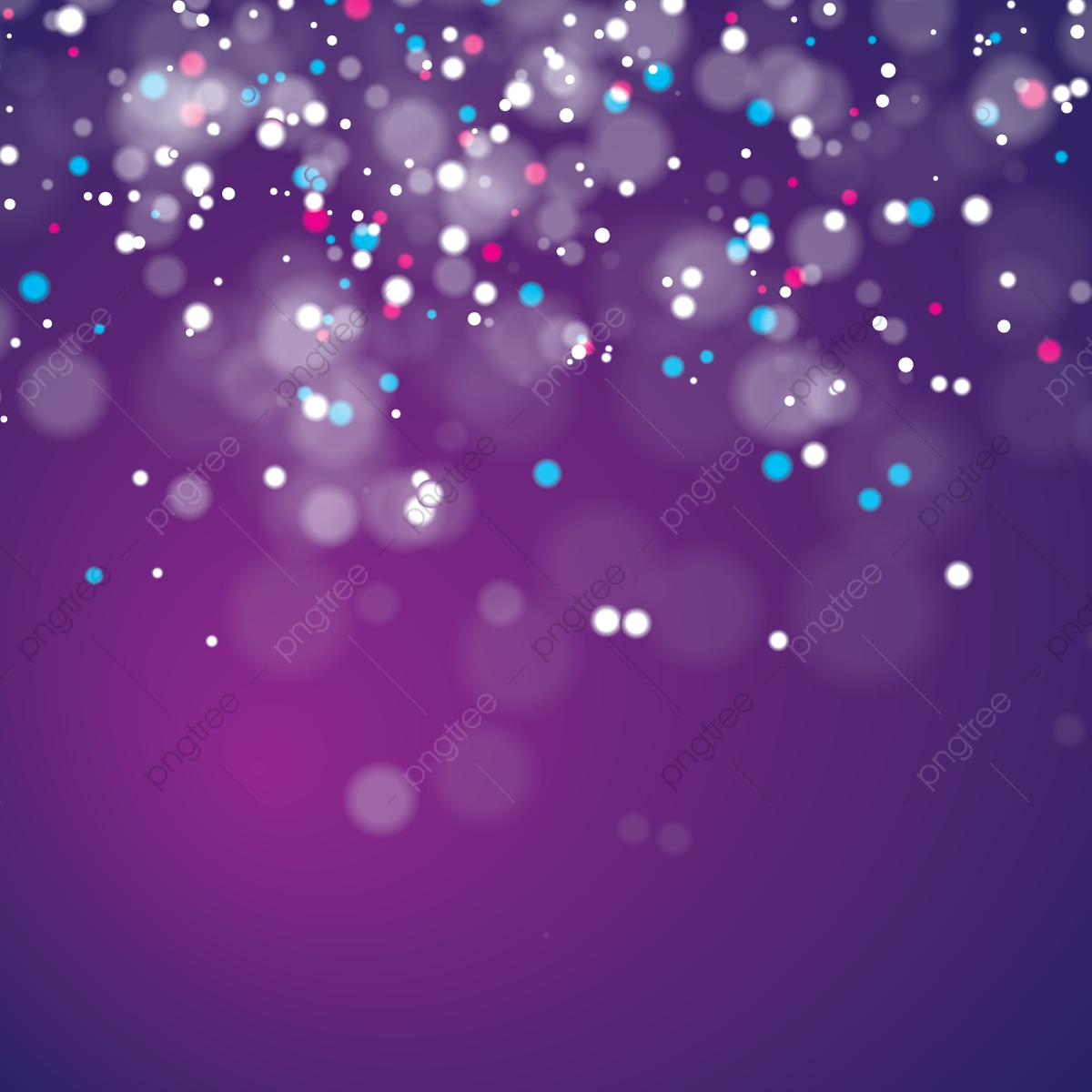 Abstract Bokeh Background Vector Purple Glitter Space Png