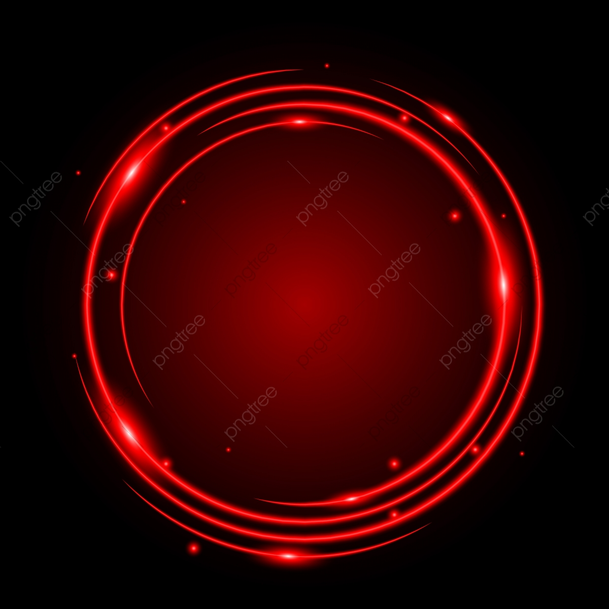 Abstract Circle Light Red Frame Vector Background, Red