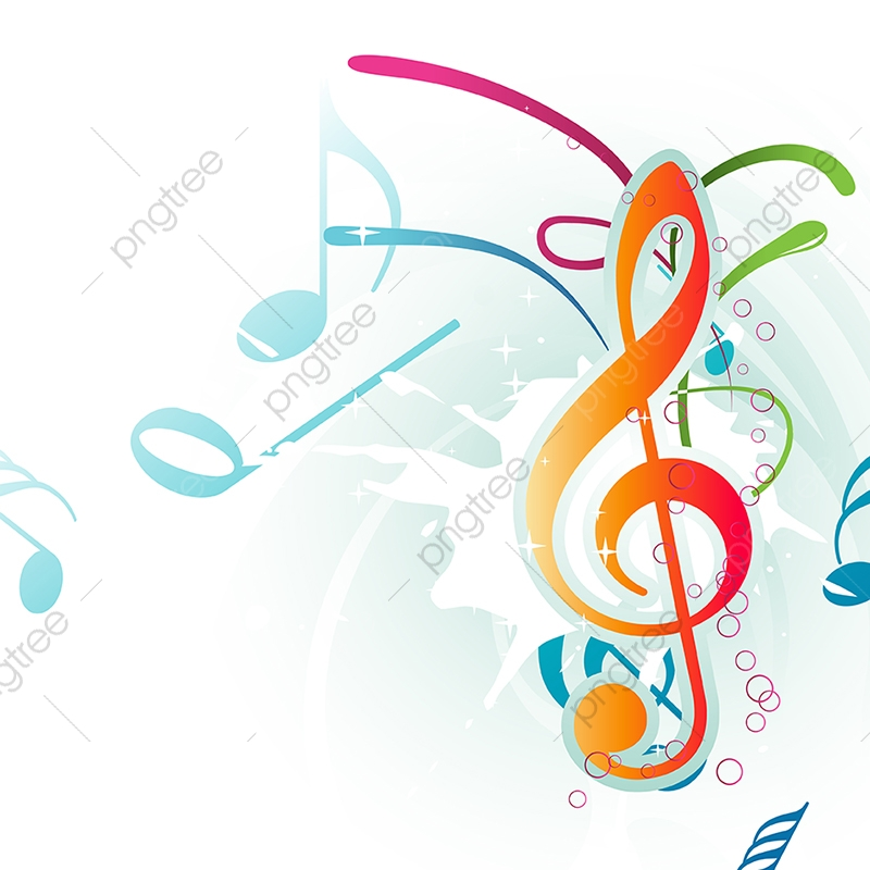 Abstract Colorful Music Note Abstract Background Classical Png And Vector With Transparent Background For Free Download