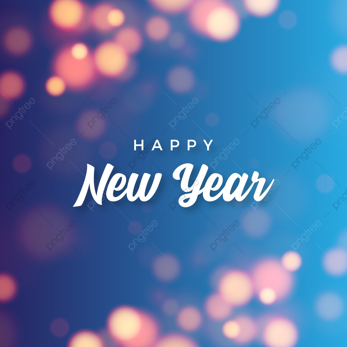 Abstract Happy New Year With Bokeh Background, Abstract, New, Year