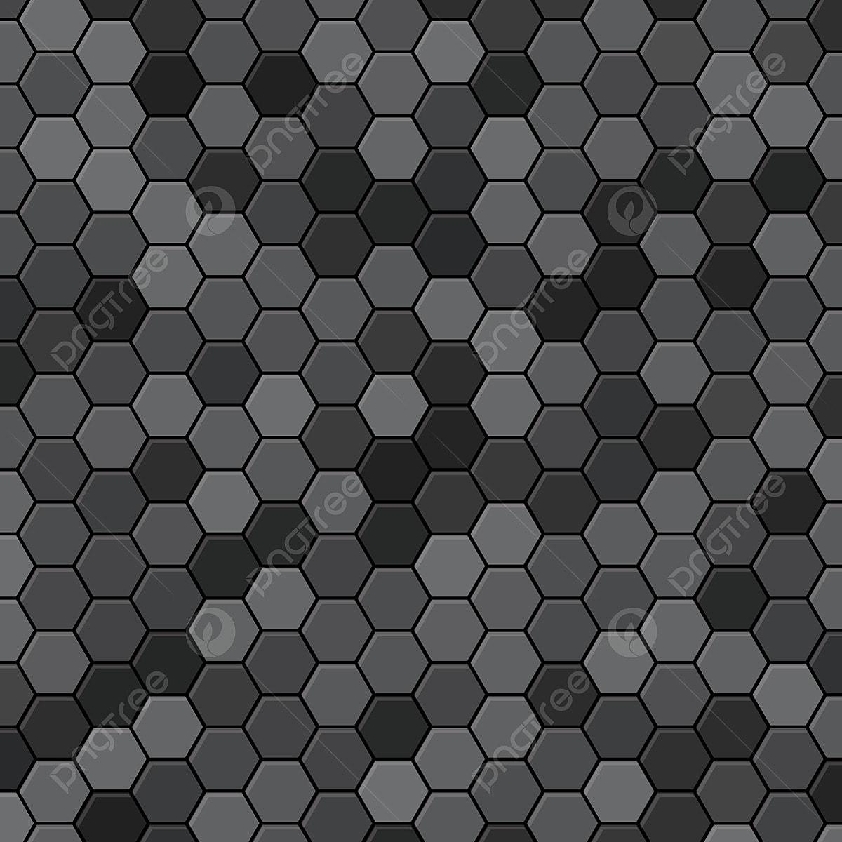 Abstract Hexagon Black Background Hexagon Texture Effect 3d