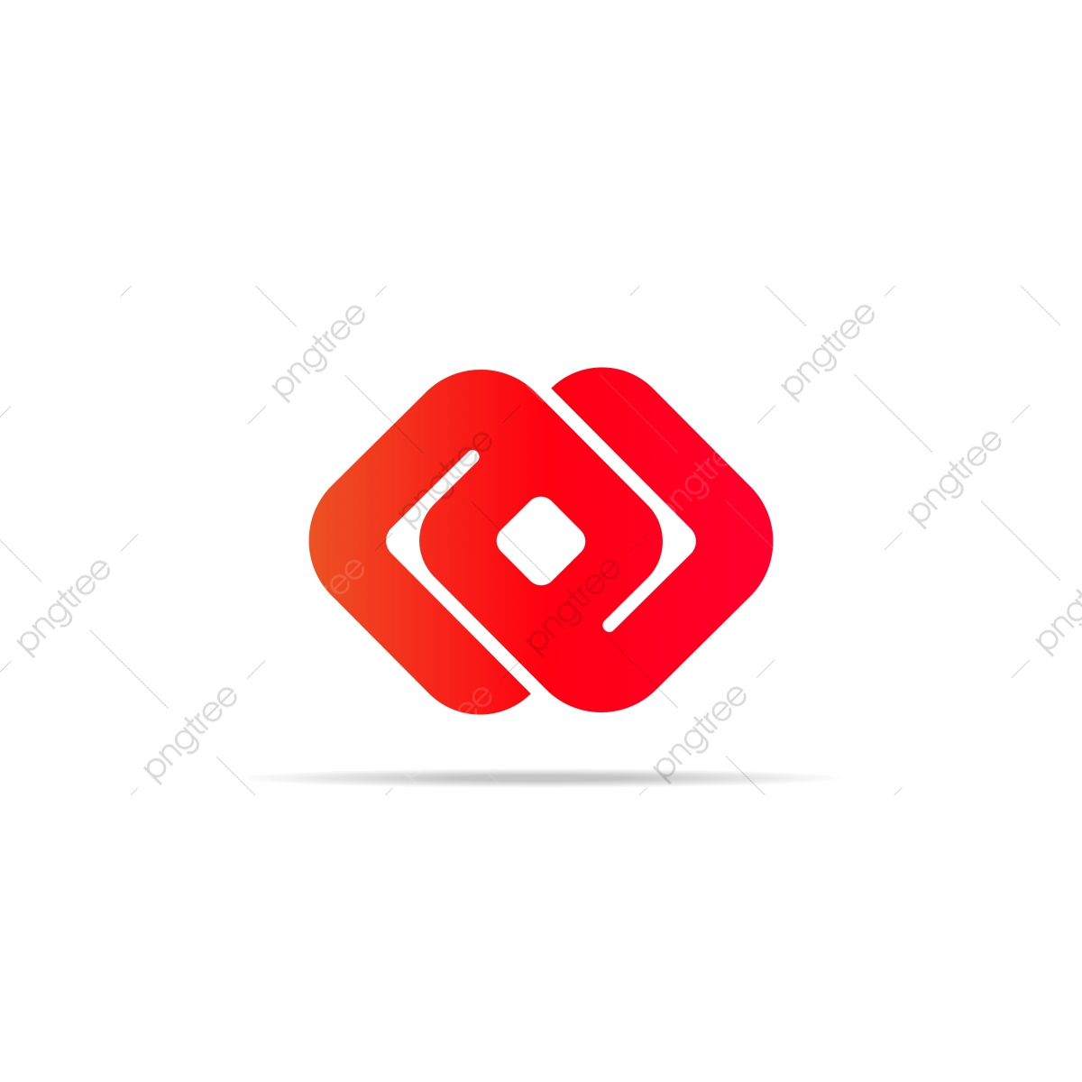Abstract Infinity Chain Cube Logo Element Concept With