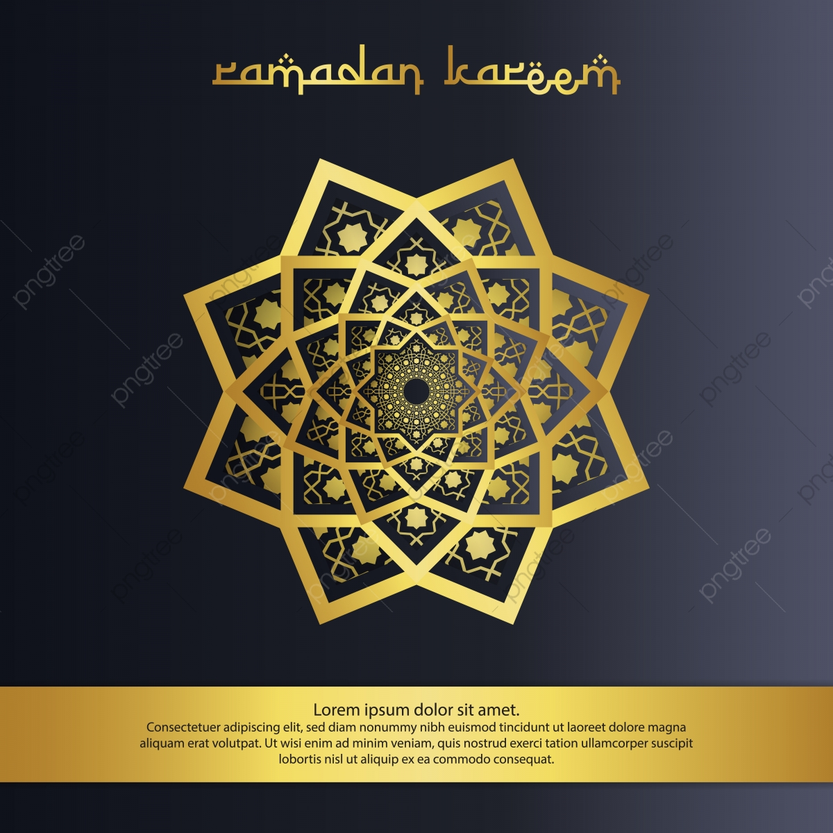 Abstract Mandala Ornament Pattern Element Design With Paper Cut