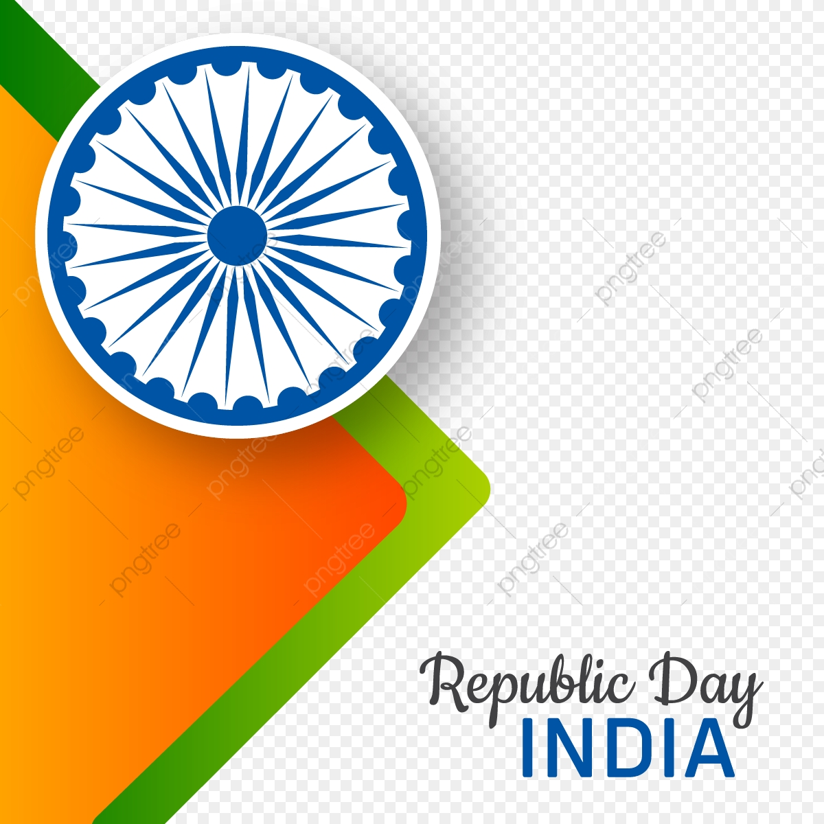 Abstract Style Republic Day India Background India