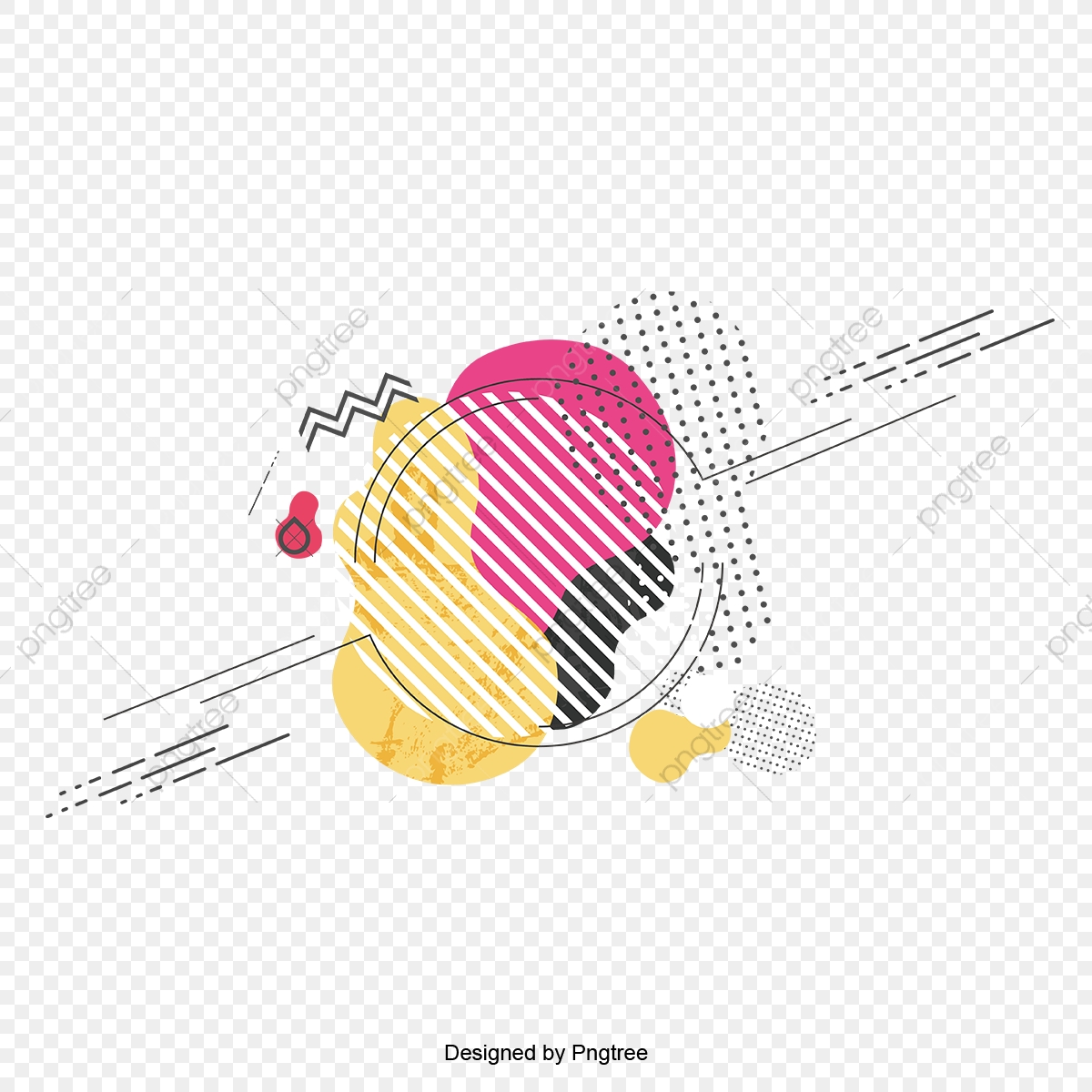 Abstract Watercolor With Geometry Art Design Abstract