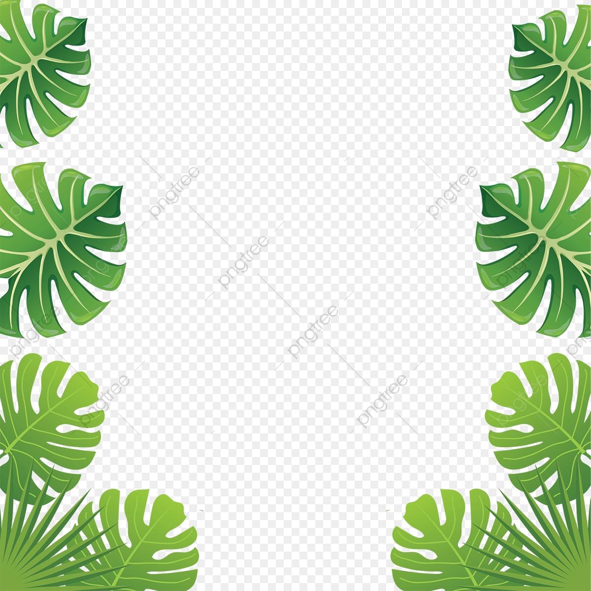 Aloha Folhas Tropicais Aloha Tropicais Folhas Folhas Frame
