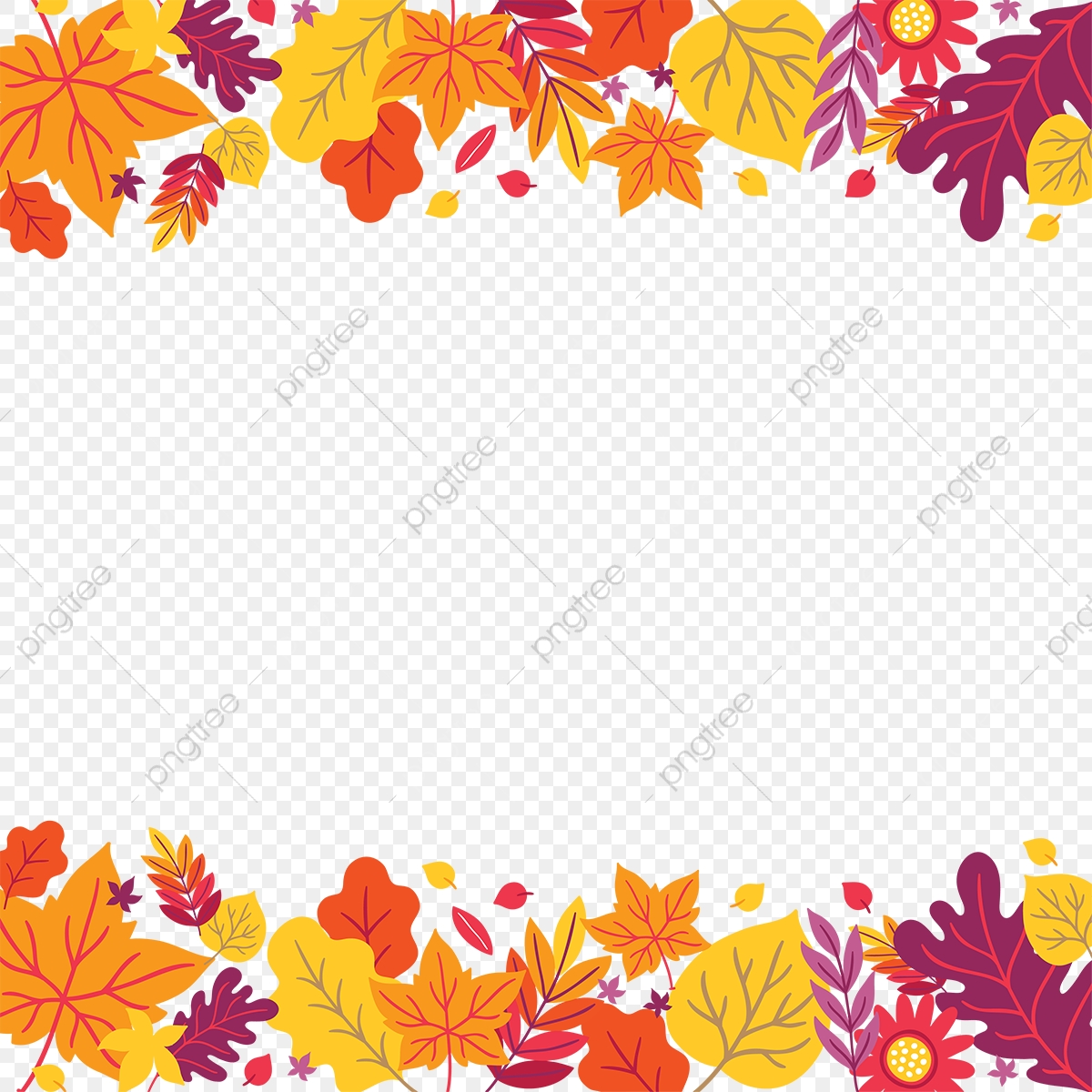 autumn flowers png autumn flowers transparent vector frame, autumn, flowers
