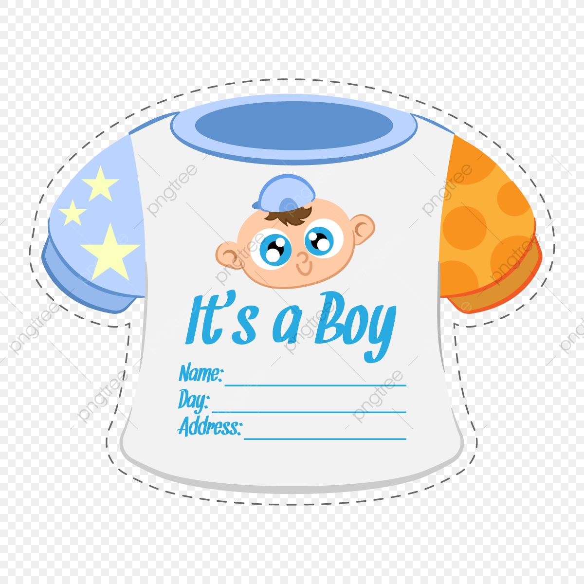 Baby Clothes Boy Shower Invitation Card Template Baby