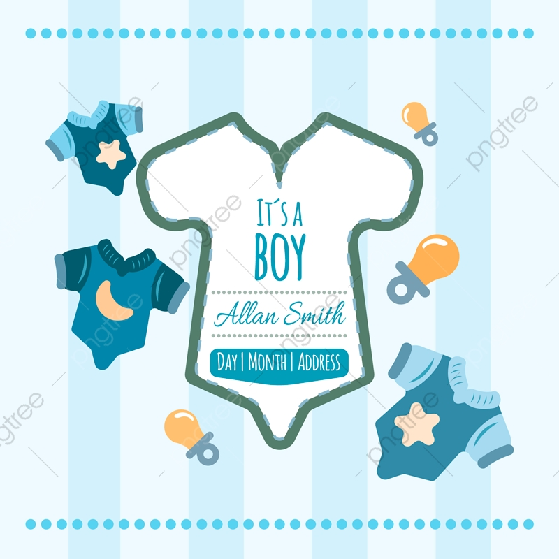 Shower Card For Boy Invitation Card Png And Vector With