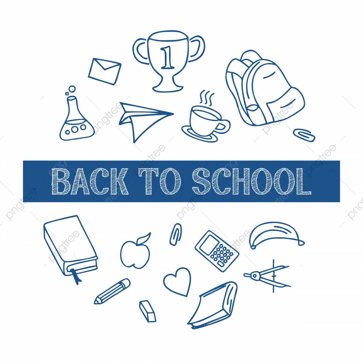 Back To School Background With Doodle Line Art, Sale, Background