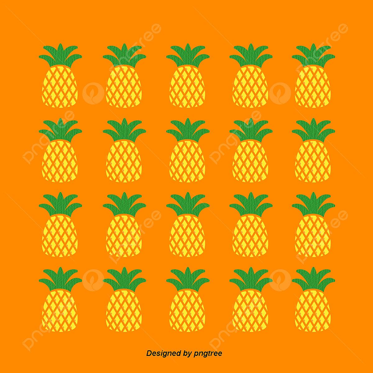 Wallpaper Orange Belang Nanas Nanas Multi Bola Kuning Dan