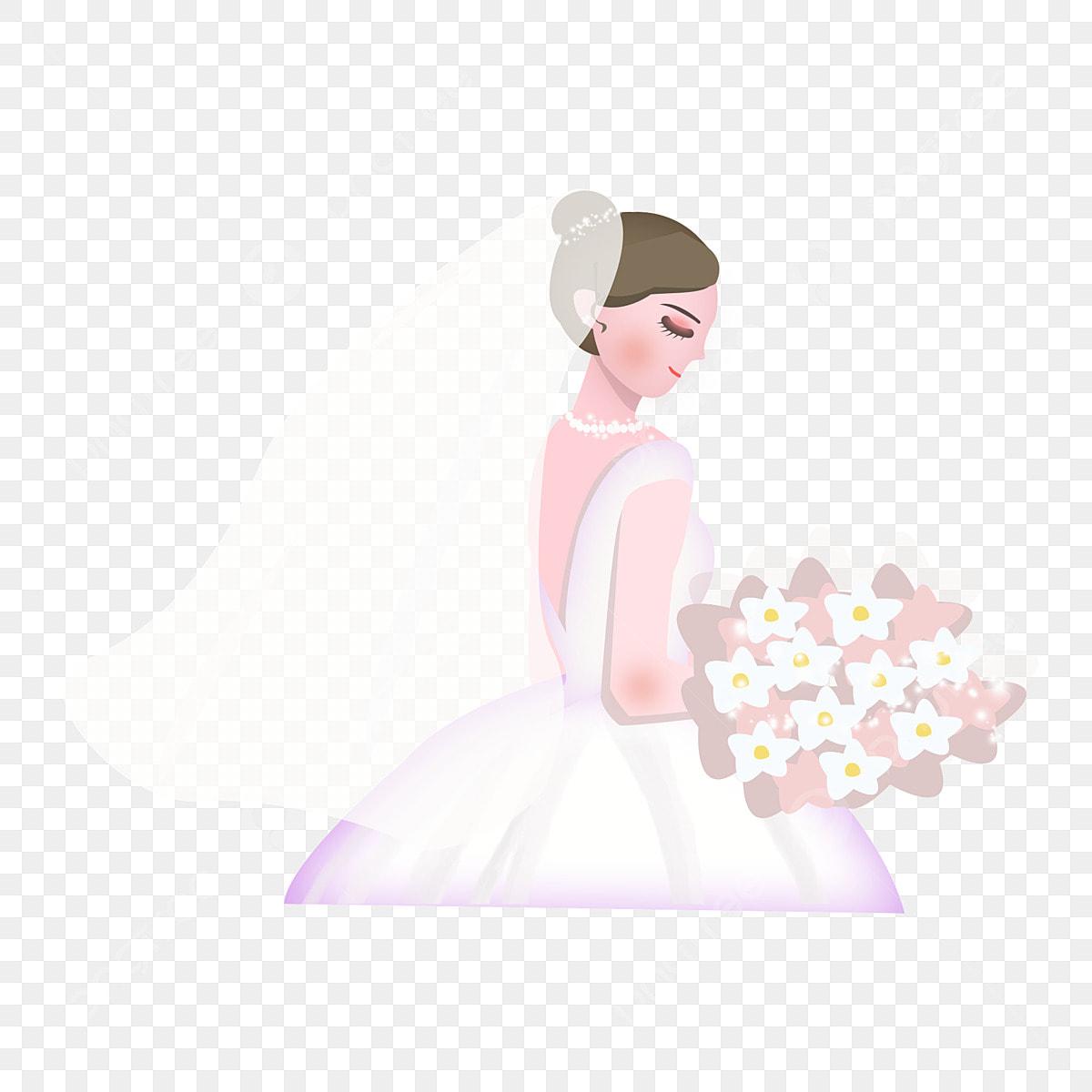 0e40e967c5bc95 Belle Conception Girly Dans Une Robe De Mariée Dessin Animé Dessiné ...