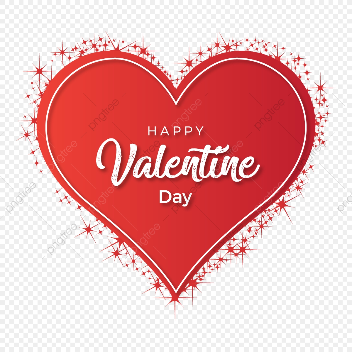 Belle Heureuse St Valentin Dans Cœur Avec Effet Coeur Des Cartes De La Saint Valentin Sparkle Png Et Vecteur Pour Telechargement Gratuit