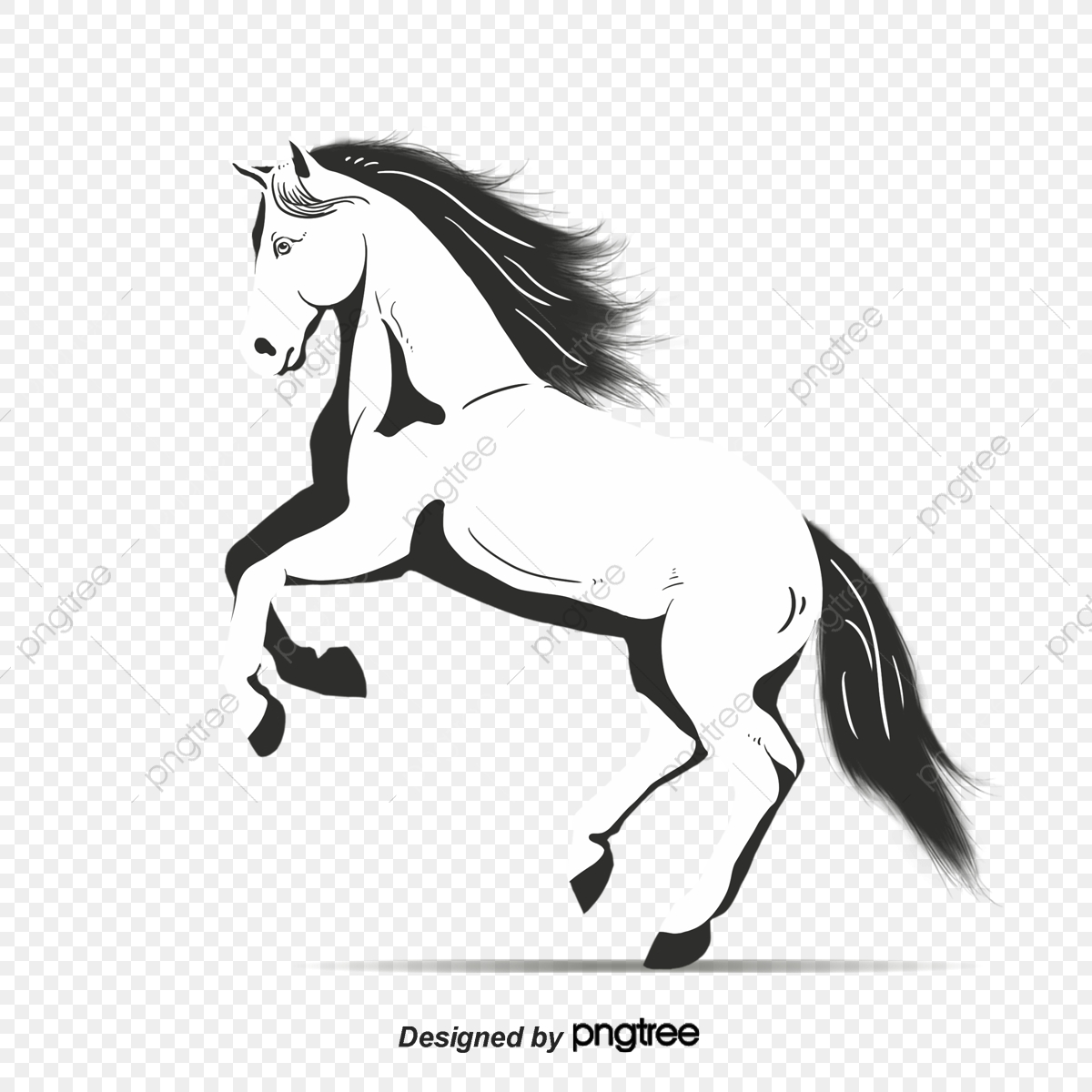 Black And White Running Horses Horse Clipart Black And White Animal Animal Illustration Png Transparent Clipart Image And Psd File For Free Download