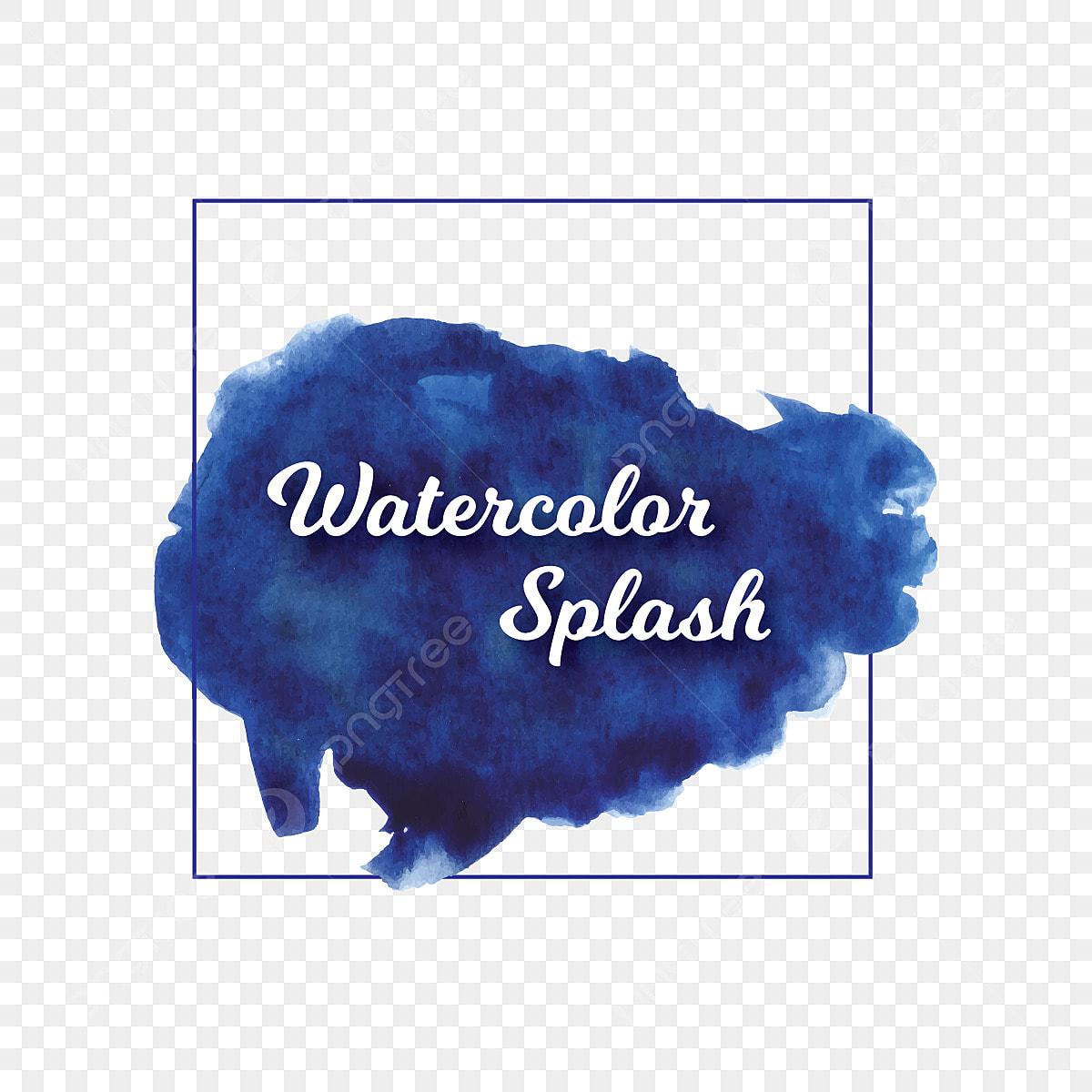 Blue Abstract Watercolor Brush Grunge Splash Blue Splash