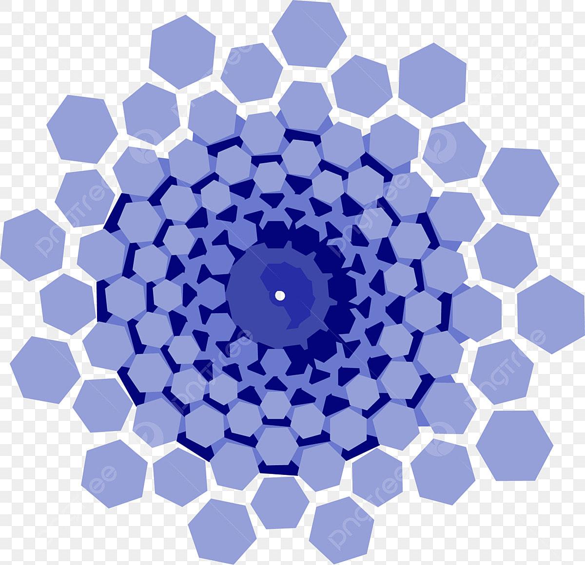 teknologi pentagon biru sarang lebah kesan corak hiasan