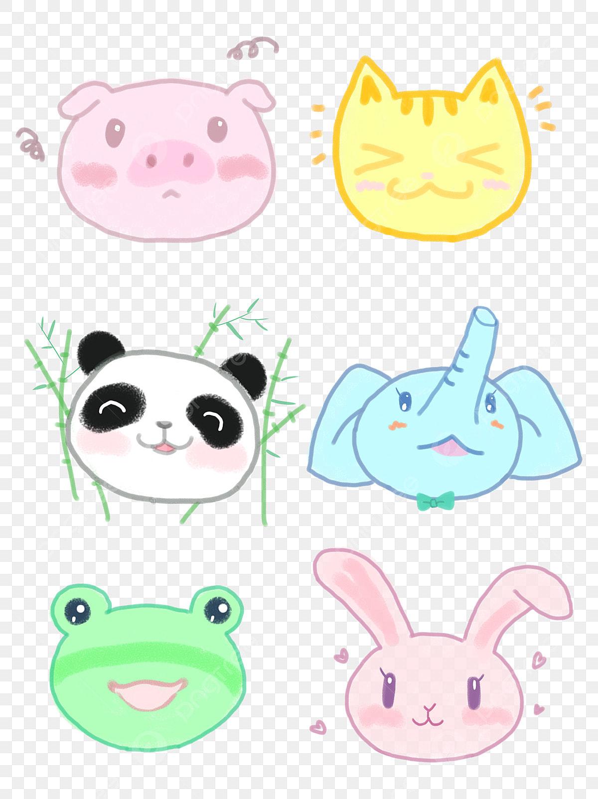 Border Cartoon Hand Drawn Stick Animal Account Element
