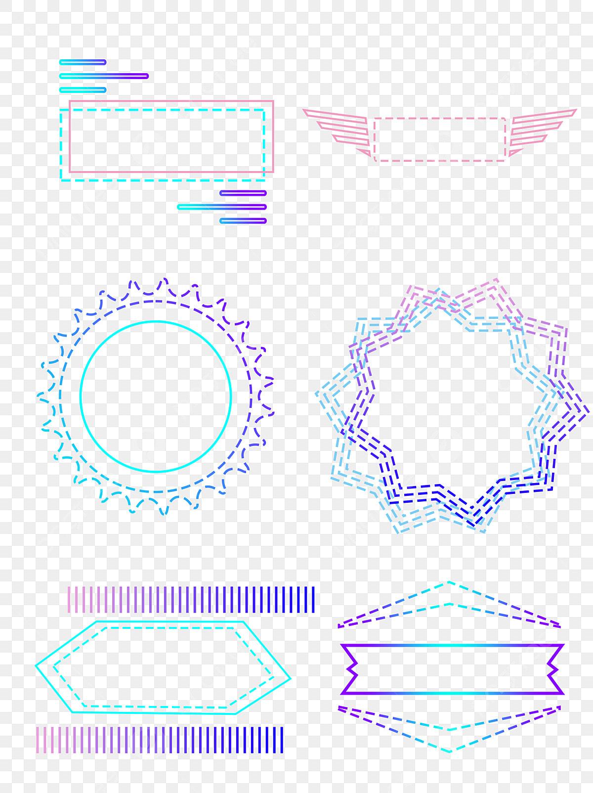 Border Light Color Gradient Simple Dotted Line Element