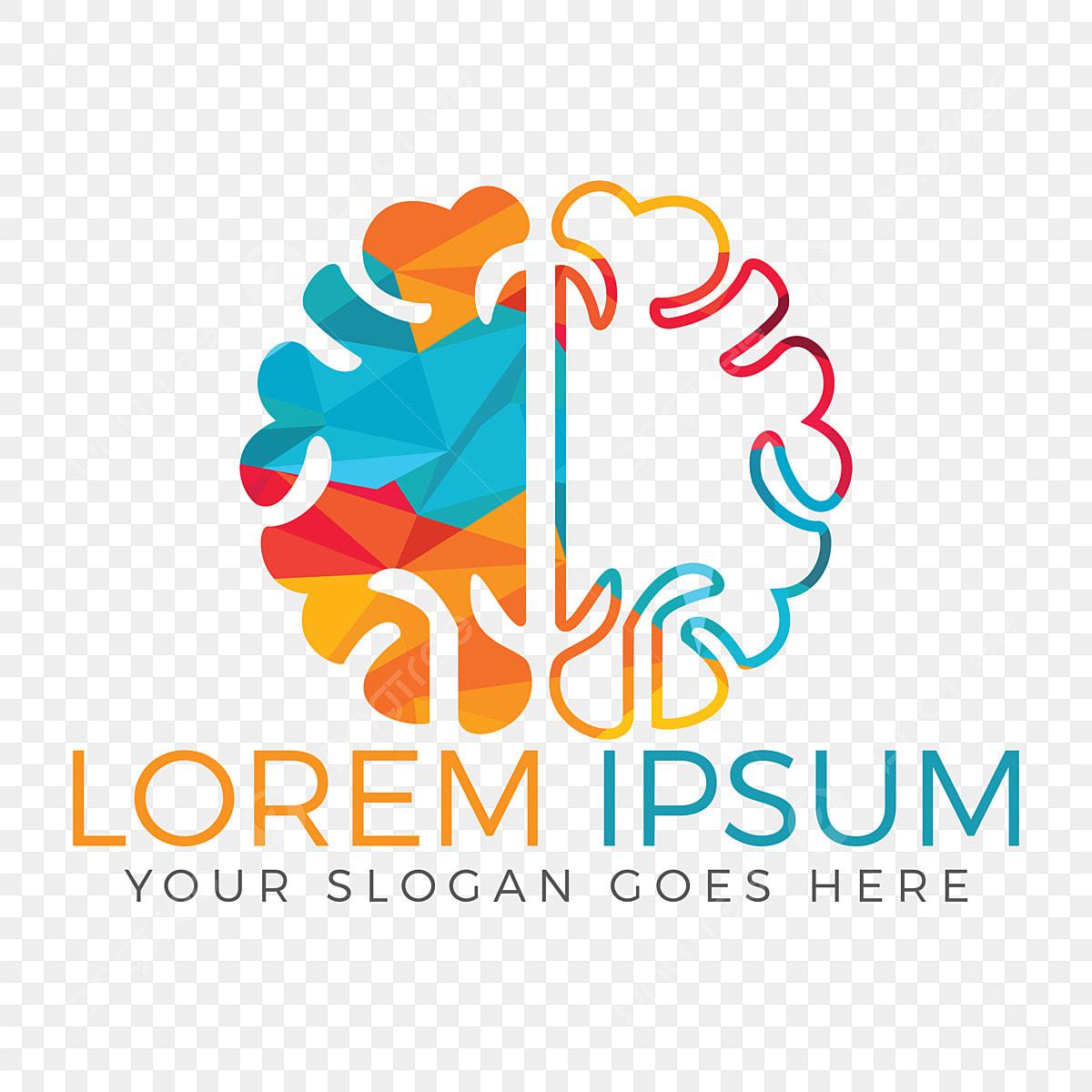 Brain Logo Vector Design Brainstorm Power Thinking Brain