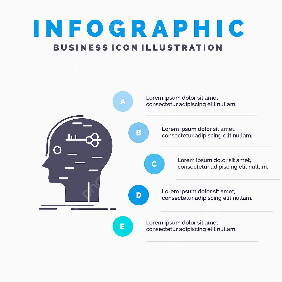Brain Hack Hacking Key Mind Infographics Template For Websit