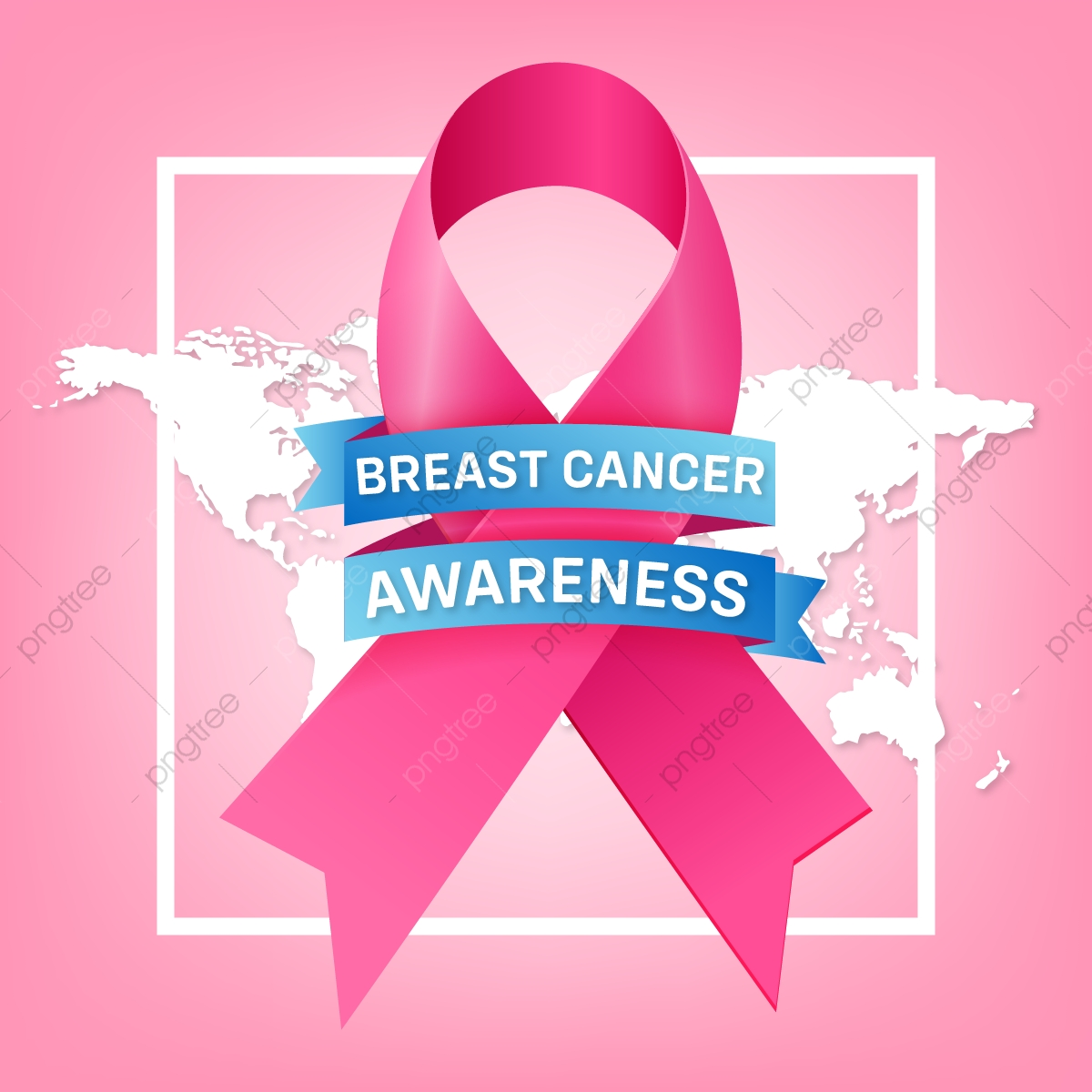 Breast Cancer Awareness Month Background With Pink Ribbon Cancer