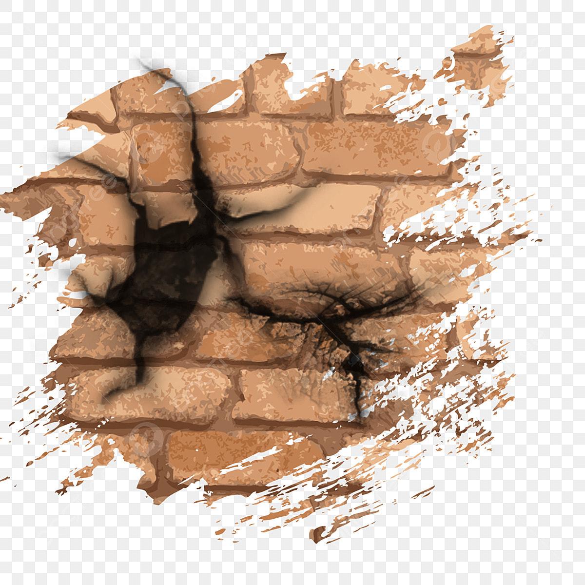 Mur De Brique Rupture Mur Effet Fissure Casse Cicatrice Fichier Png Et Psd Pour Le Telechargement Libre