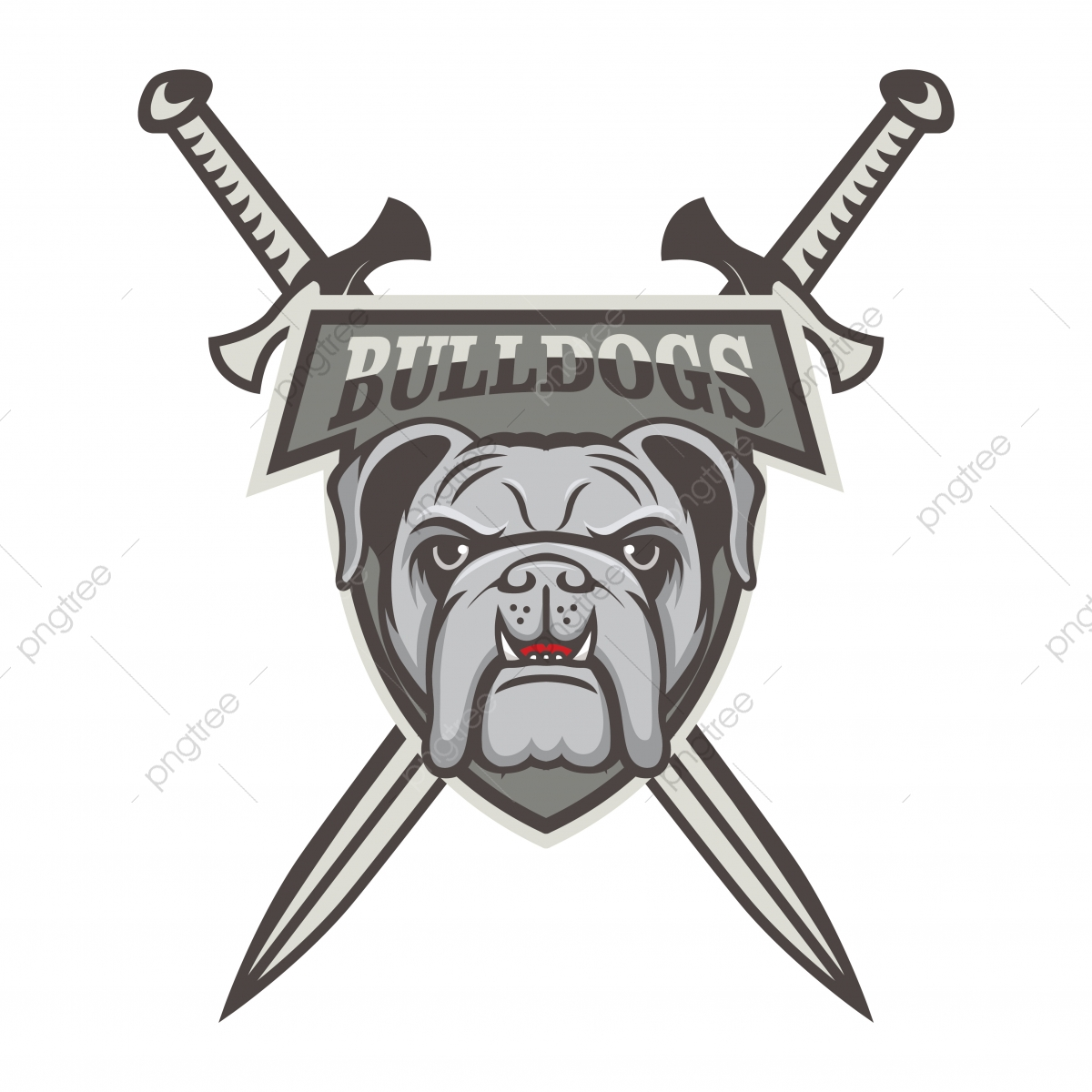 Bulldog Vector Mascot Logo Design Sport Illustration Animal