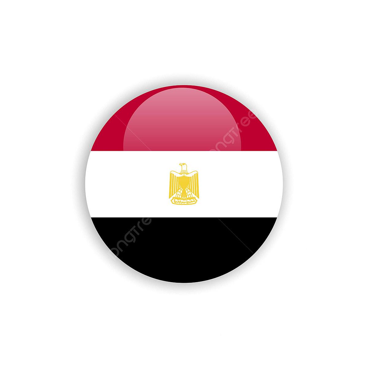 Button Egypt Flag Vector Template Design Flag Icons Button Icons Template Icons Png And Vector With Transparent Background For Free Download