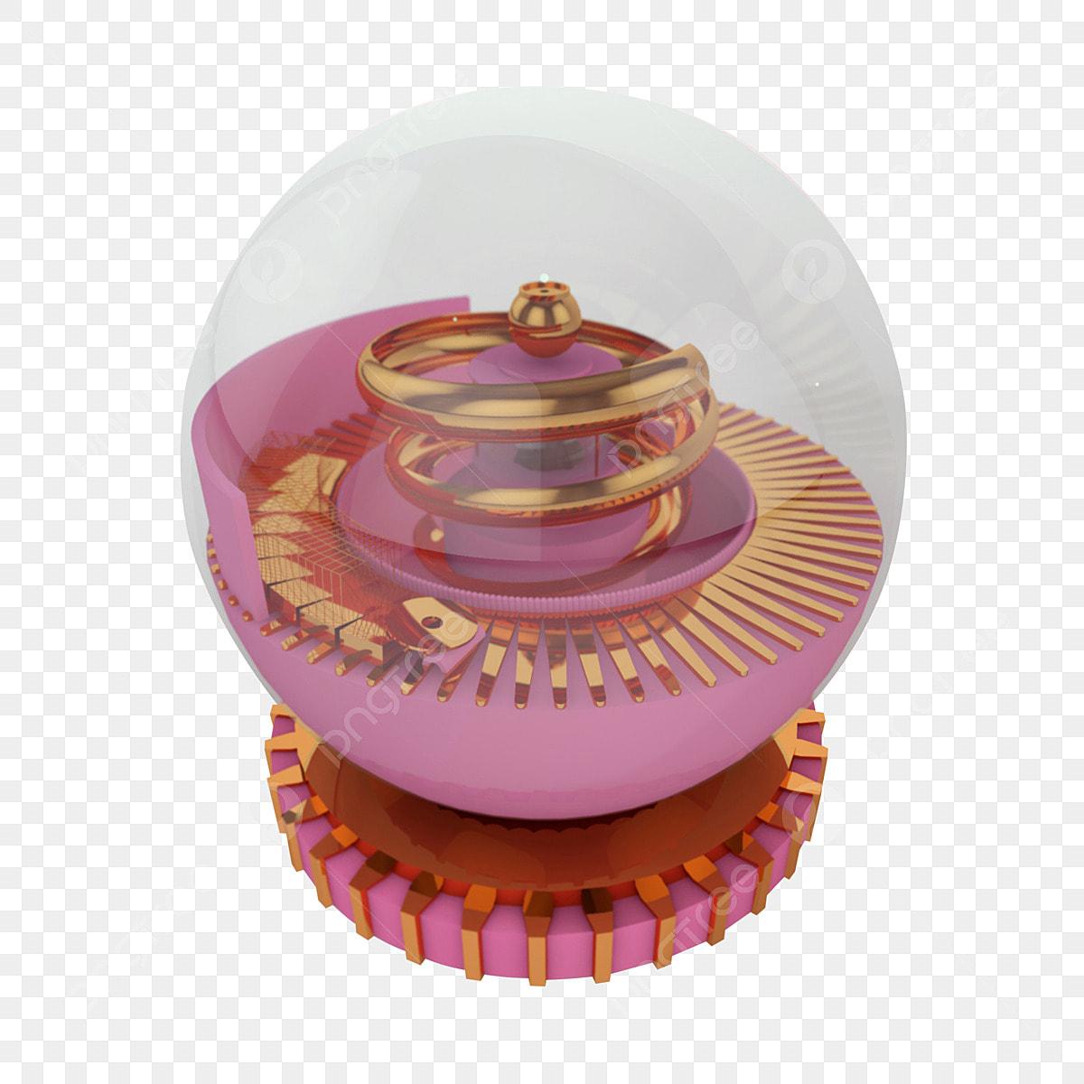 C4d Crystal Ball Rose Gold Design Element, C4d, Crystal Ball