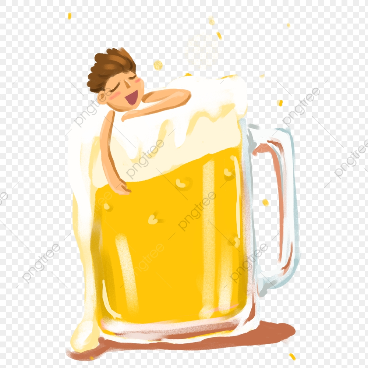 Cartoon Beer Mug Character Beer Beer Foam Beer Festival Drink Png Transparent Clipart Image And Psd File For Free Download