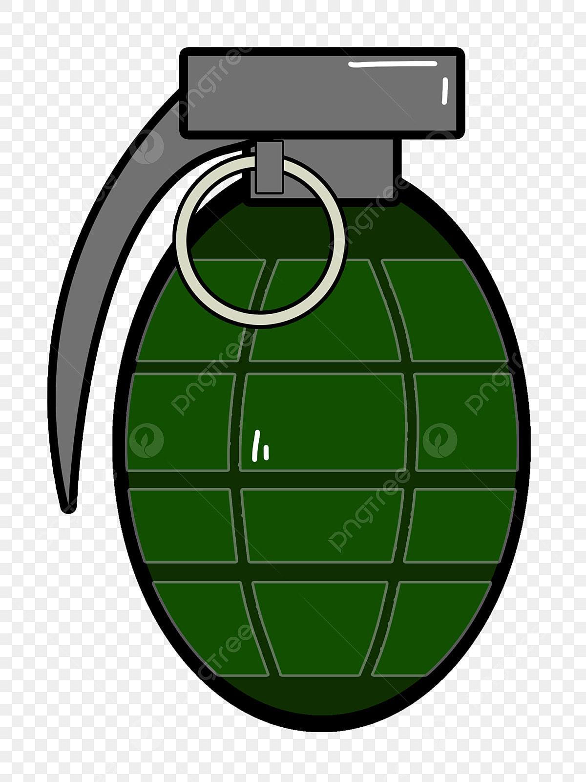 Bomba Dos Desenhos Animados Bomba Verde Granada Polvora
