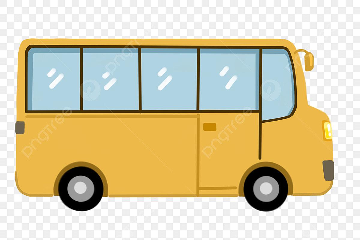 Voiture De Dessin Animé Van Véhicule Autobus Scolaire