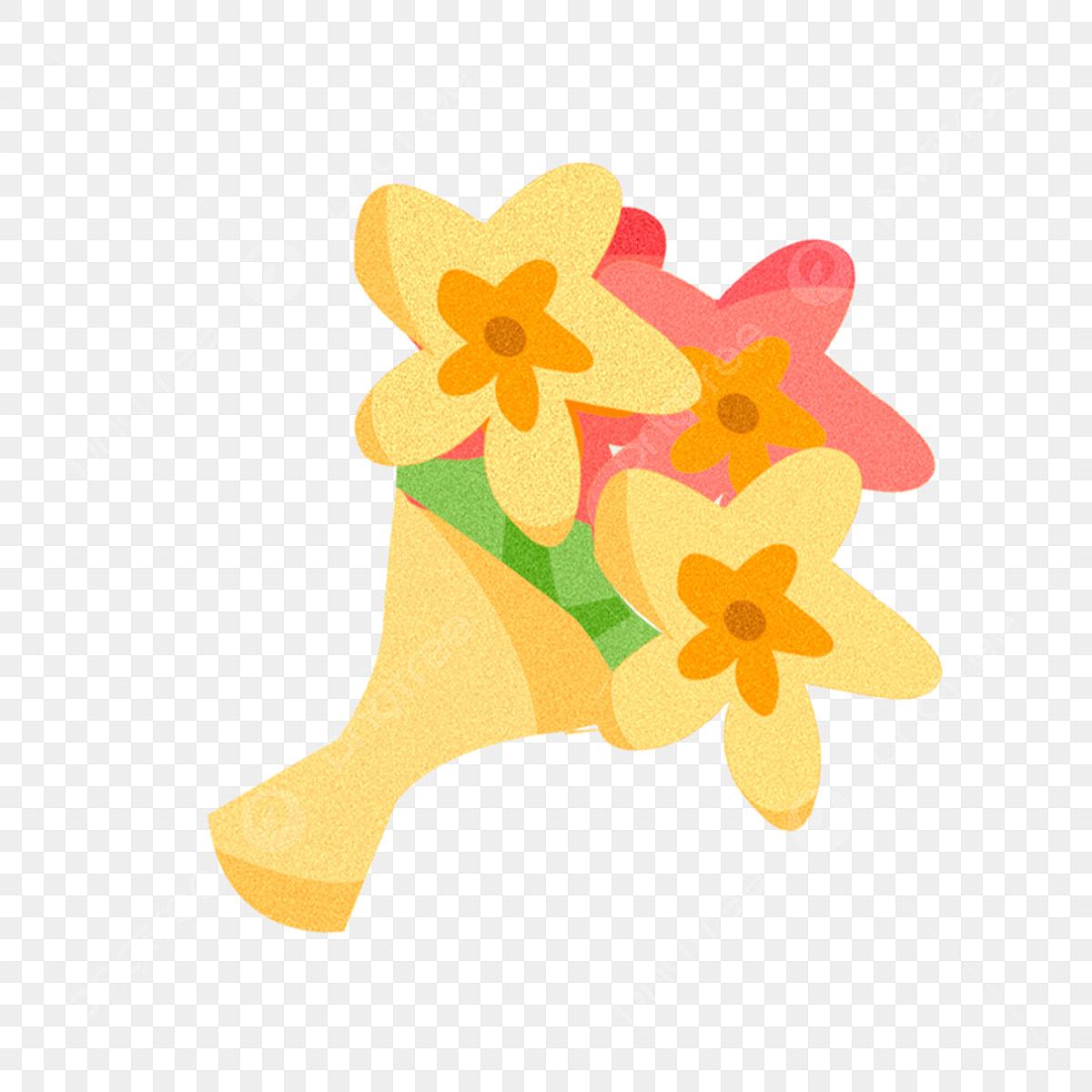 Dessin Animé Bouquet De Fleurs Pour éléments Commerciaux