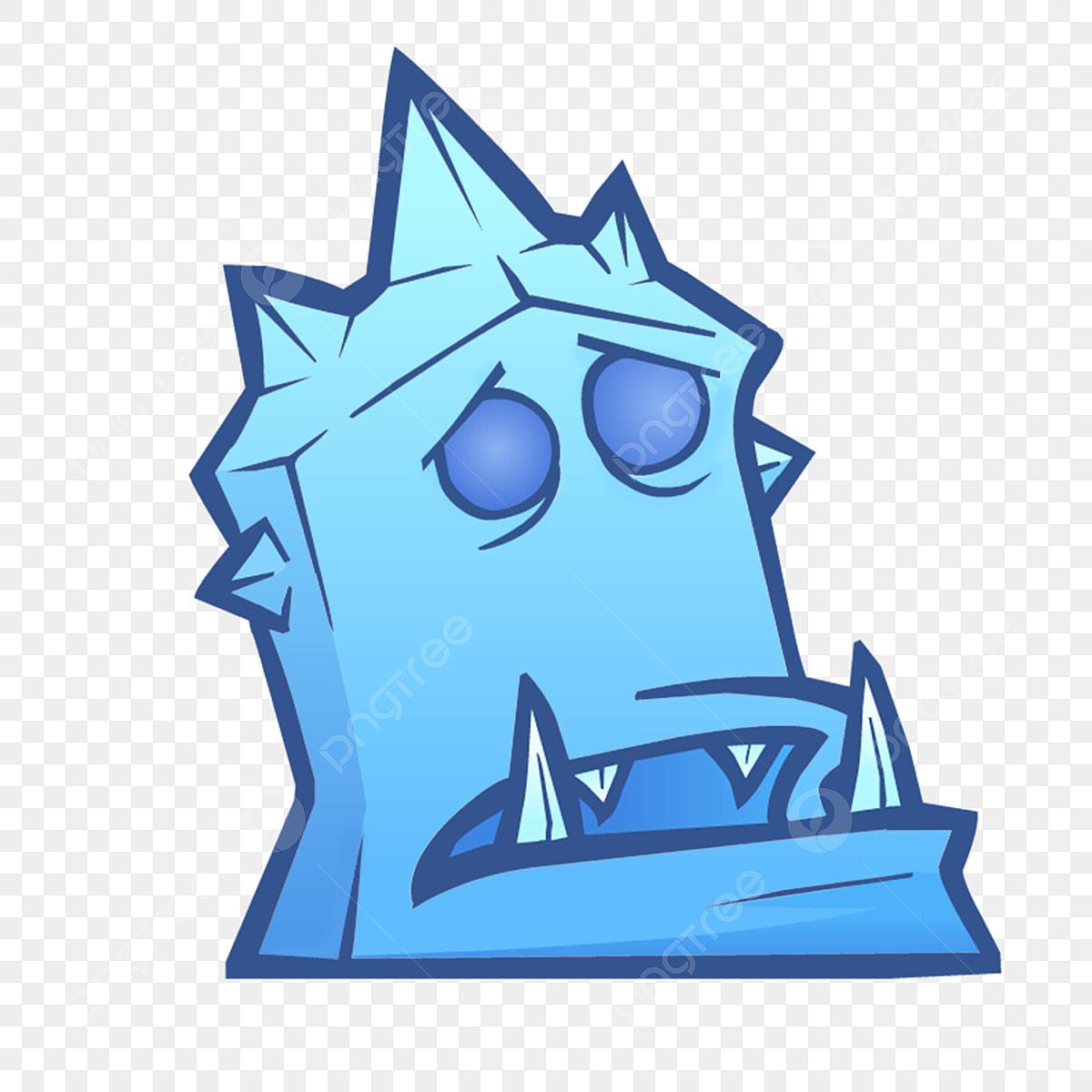 Personagem De Jogo Criativo Dos Desenhos Animados Cubo De Gelo