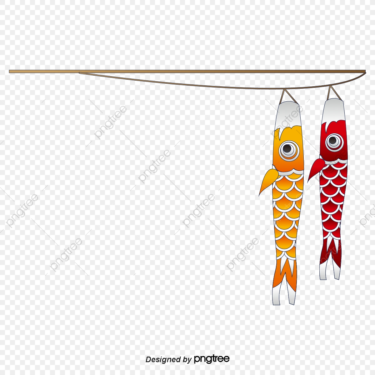 Cartoon Fishing Rod For Two Fishes Two Fish Cartoon Go Fishing Png And Vector With Transparent Background For Free Download