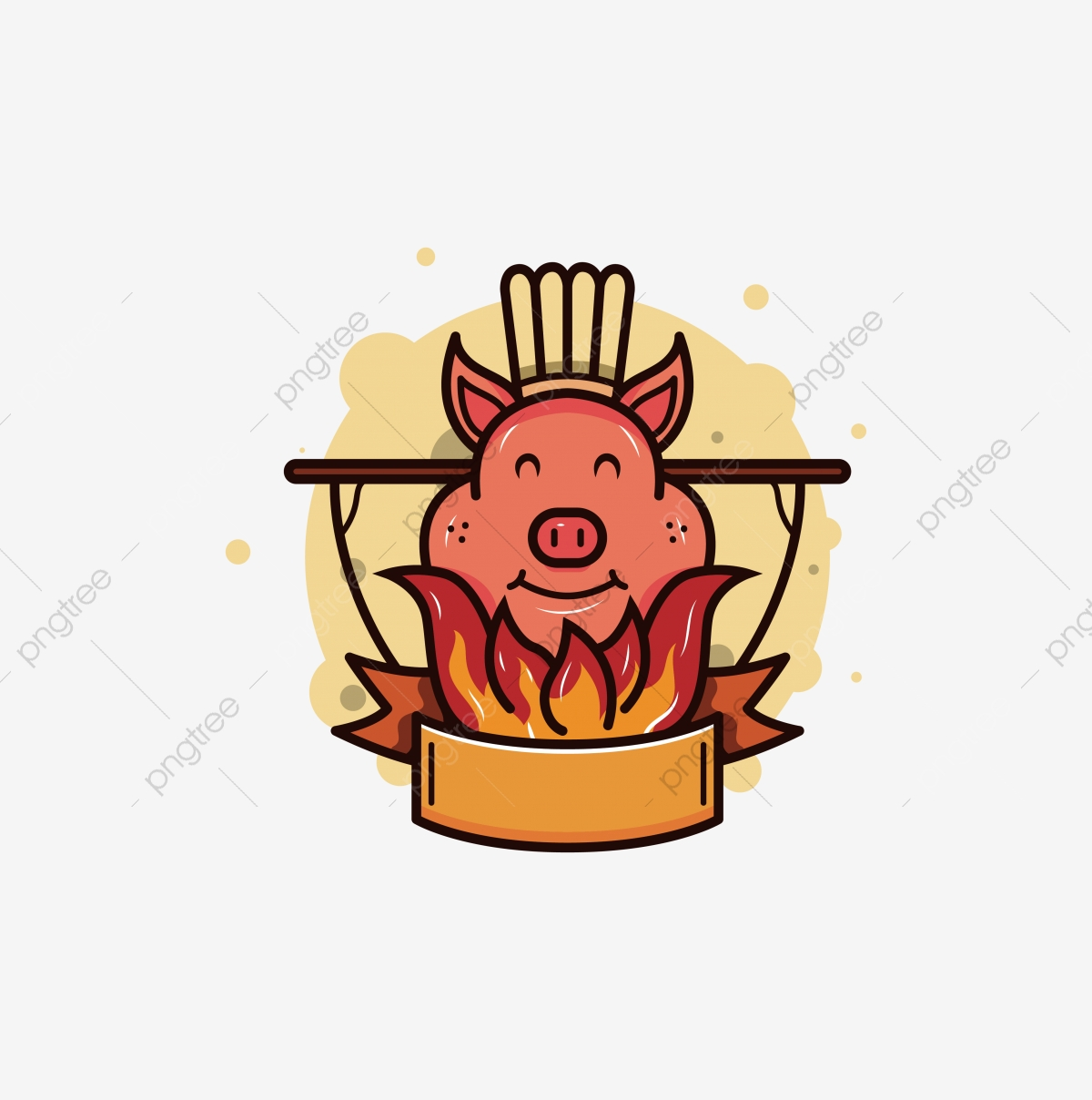Cartoon Get Together Bbq Pork Roast Pig Hand Pig Clipart Roast Trotters Pig Feet Png And Vector With Transparent Background For Free Download