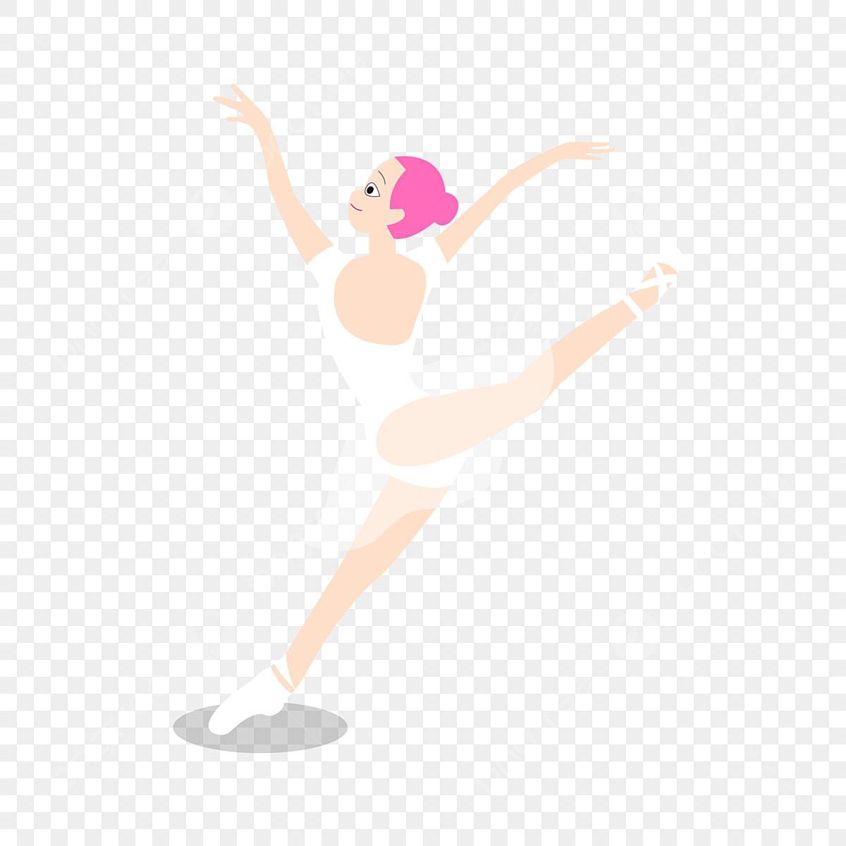 Caricatura Mao Desenhado Bailarino Bale Dancar Ilustracao Mao Dos