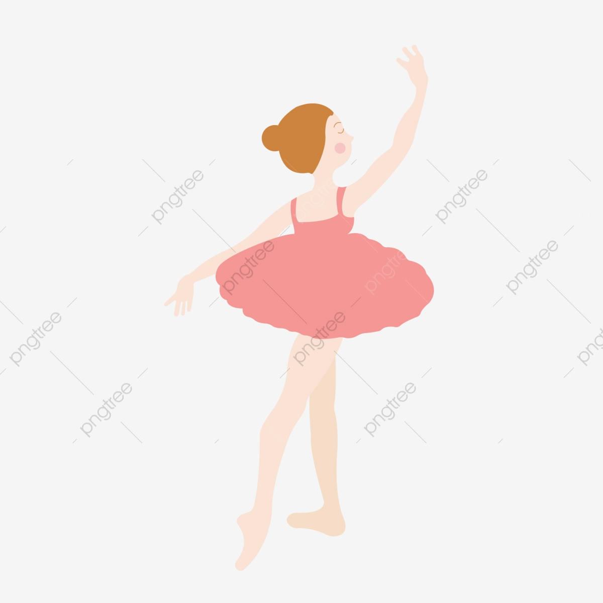 Cartoon Hand Drawn Ballet Dancer Illustration Cartoon Hand Drawn Ballet Dancer Dancing Png And Vector With Transparent Background For Free Download
