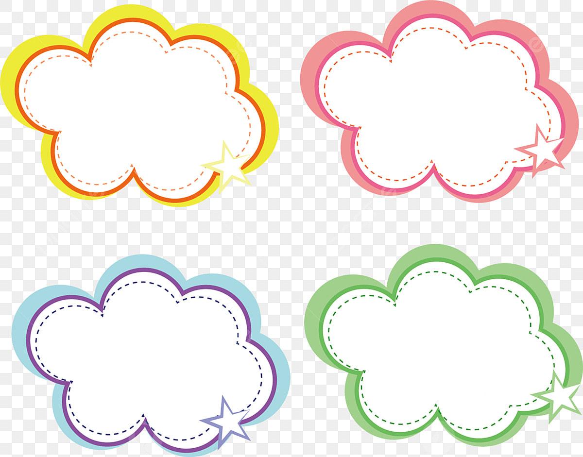 Cartoon Hand Drawn Color Bubble Speech Bubble Cloud Pattern, Texture
