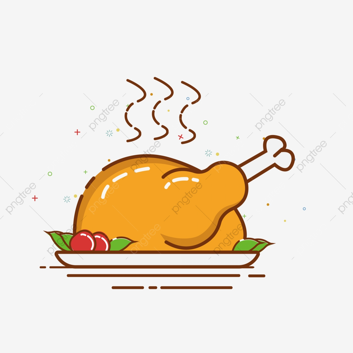 Cartoon Hand Drawn Meb Style Turkey Illustration Turkey Food Roast Chicken Png And Vector With Transparent Background For Free Download