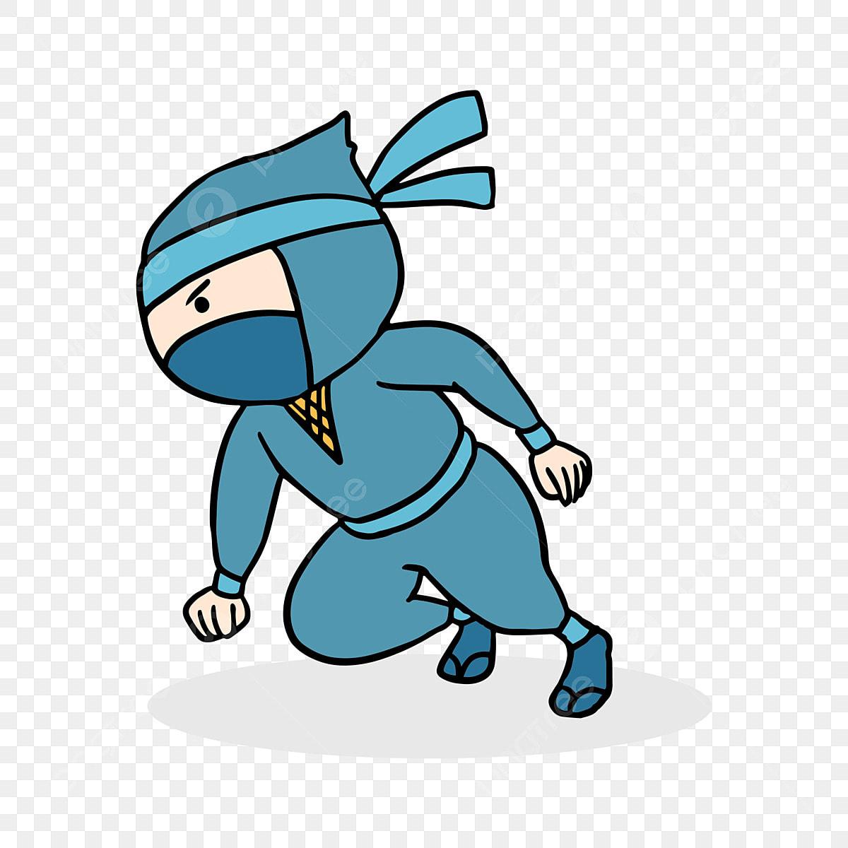 Padrao De Mao Extraidas Dos Desenhos Animados Ninja Japones Bonito