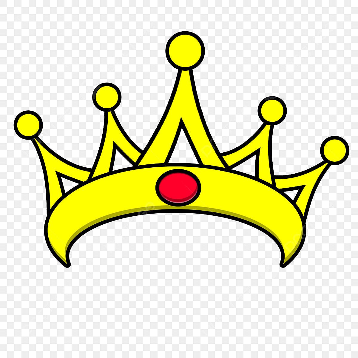 Dibujos Animados Honor Reina Princesa Corona Pintado A Mano
