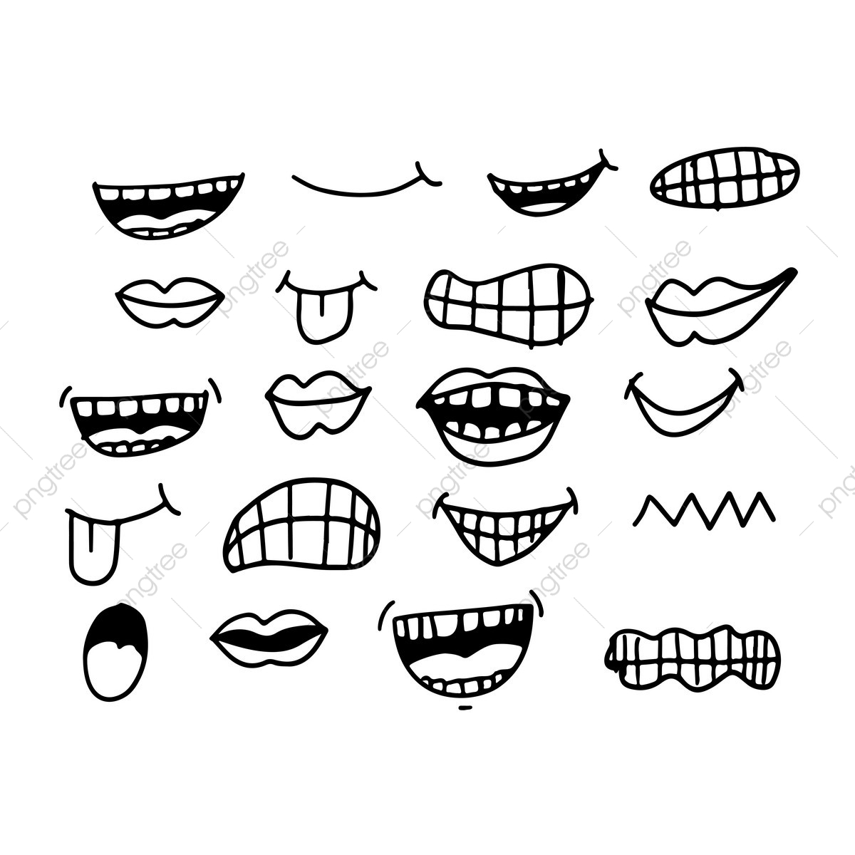 cartoon bouche ic u00f4ne cartoon ensemble de la bouche png et